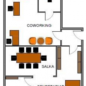 Plan biura coworking w Strefie Biznesu w Gdyni